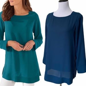 SOFT SURROUNDINGS Lisse Long Sleeve Pullover Tunic